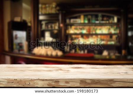 wooden bar  - stock photo