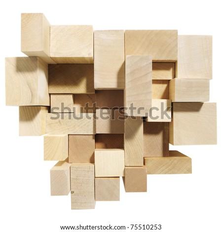 wooden block - stock photo