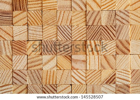 Wooden blocks stacked for Background or Texture. Macro studio shot. - stock photo