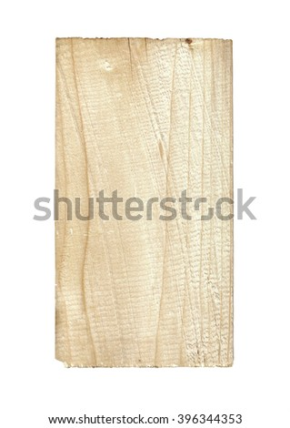 Wooden board isolated on white background. - stock photo