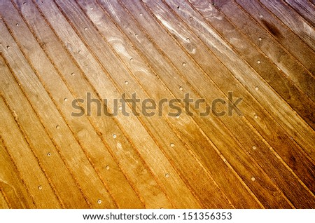 Wooden Boardwalk Background, Weathered and rough textured - stock photo