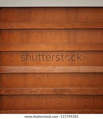 wooden book shelf background - stock photo