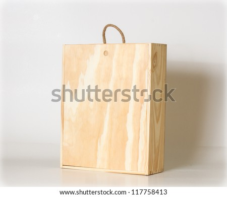 Wooden box. - stock photo