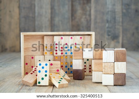 Wooden Brain game for kid - stock photo