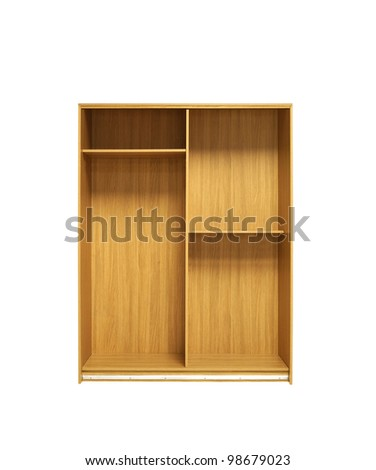Wooden cabinet - stock photo