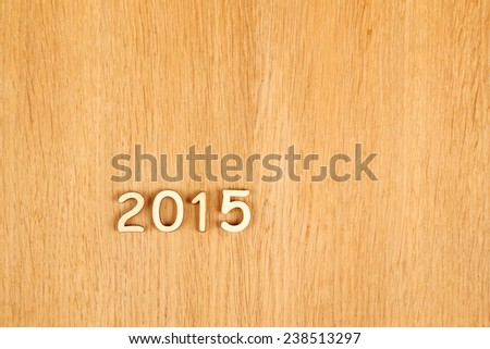 Wooden calendar calendar for the new year 2015. - stock photo