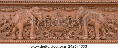 Wooden carved thai style - stock photo