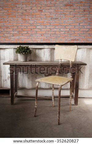 Wooden chair - stock photo