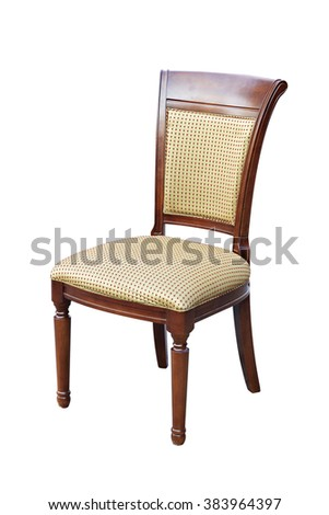 Wooden chair. Isolated on white background - stock photo