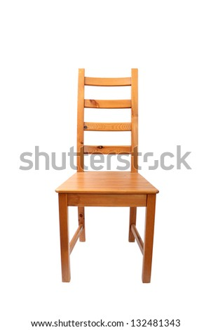 Wooden chair. Isolated with clipping path. - stock photo