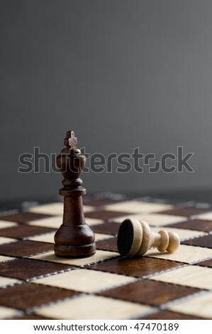 wooden chess - stock photo