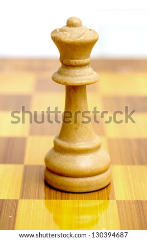 wooden chess pieces - stock photo