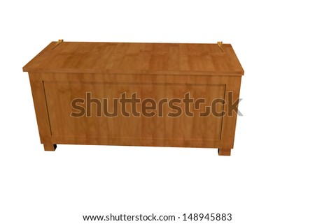 wooden chest - stock photo