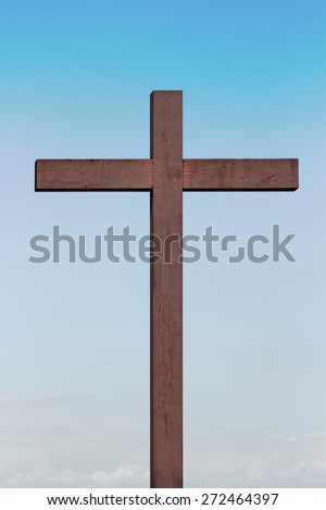 wooden cross - stock photo