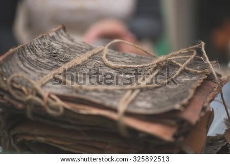 Wooden crust - stock photo