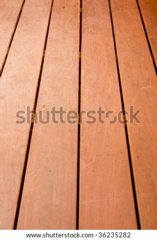 Wooden deck - stock photo