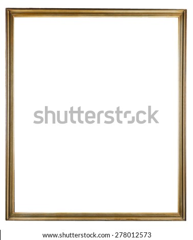 wooden decorative frame for painting isolated on white  - stock photo