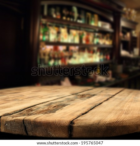 wooden desk and bar  - stock photo