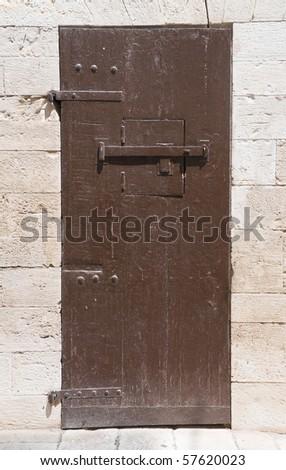 Wooden door. - stock photo