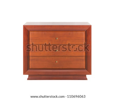 Wooden dresser isolated - stock photo