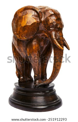 Wooden elephant - stock photo