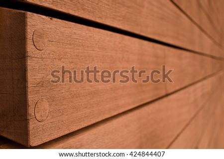 Wooden Facade - stock photo