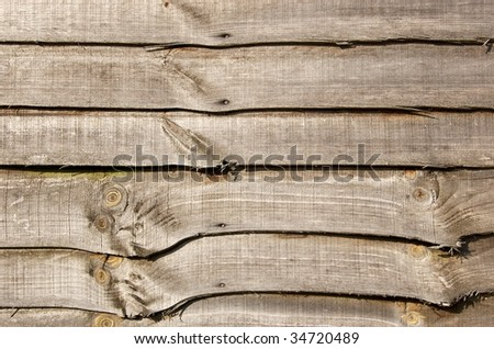 Wooden Fence panel for use as a background - stock photo