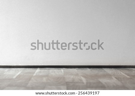 Wooden floor and wall interior - stock photo