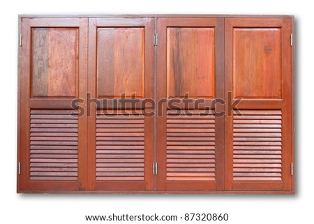 wooden Folding doors - stock photo
