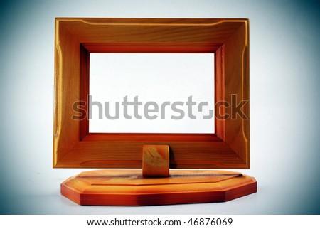 Wooden frame. - stock photo