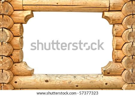 wooden frame - stock photo