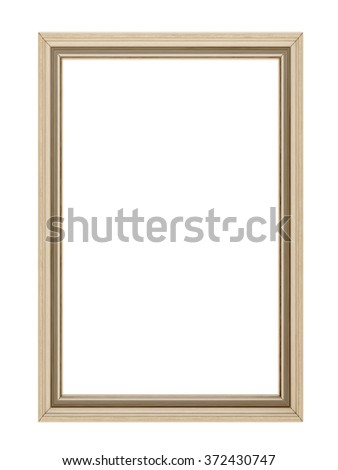 Wooden frame isolated - stock photo