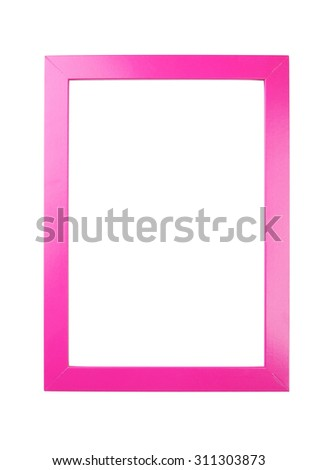 Wooden frame isolated on white - stock photo