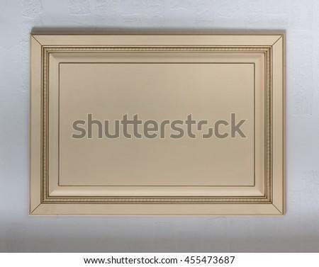 wooden frame, photo frame, furniture interior detail - stock photo