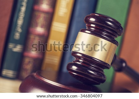 Wooden gavel - stock photo