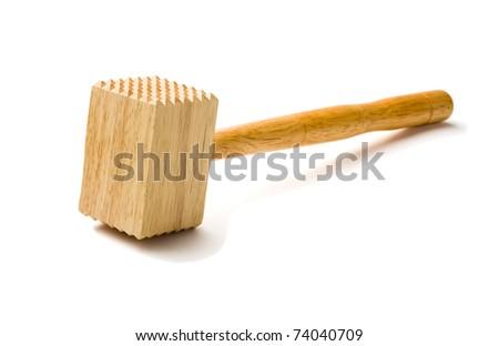 wooden hammer - stock photo