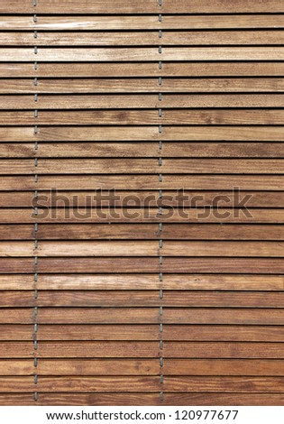 Wooden horizontal jalousie texture abstract background - stock photo