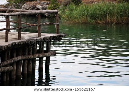 Wooden jetty - stock photo