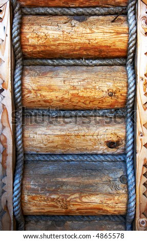 Wooden juggle texture - stock photo