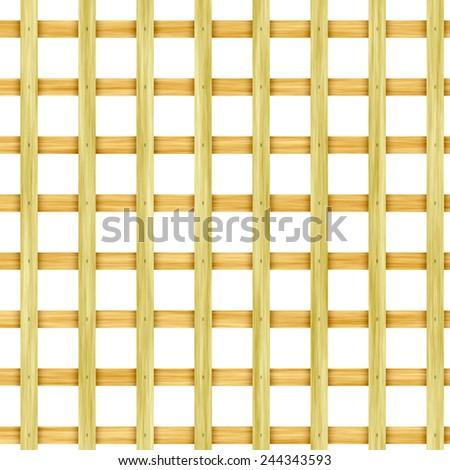 Wooden lattice - stock photo