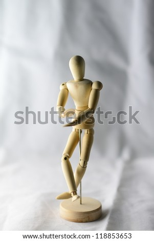 Wooden  model - stock photo