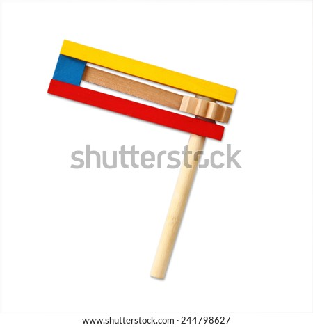 wooden noisemaker or gragger for purim celebration holiday (jewish holiday) - stock photo