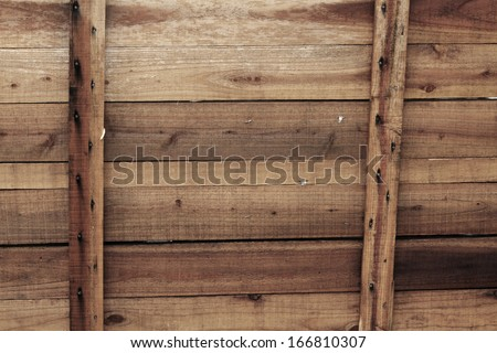 Wooden pallet background - stock photo