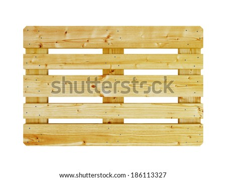 wooden pallet, isolated on white - stock photo