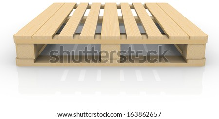 Wooden pallet. Isolated render on a white background - stock photo