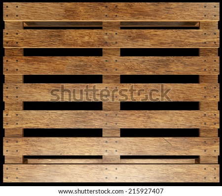 wooden pallet. realistic. isolated on black background. 3d illustration - stock photo