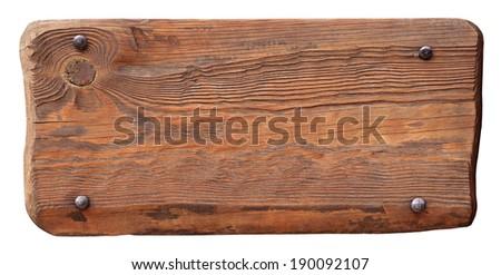 Wooden panel - stock photo