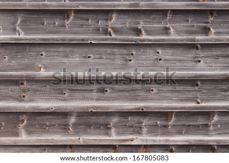 Wooden panels from larch aged - stock photo