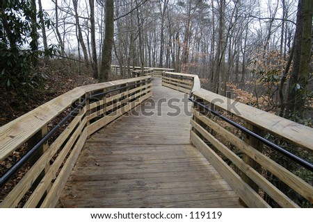 Wooden Path - stock photo
