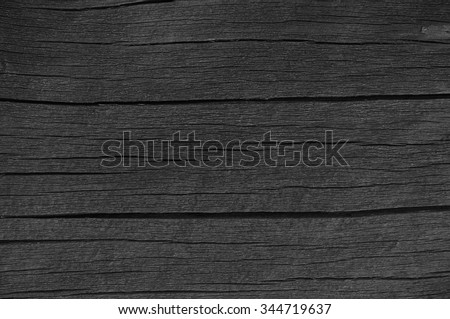 Wooden Plank Board Grey Black Wood Tar Paint Texture Detail Old Aged Dark Cracked Timber Rustic Macro Closeup Pattern Blank Empty Rough Textured Copy Space Grunge Weathered Vintage Painted Background - stock photo